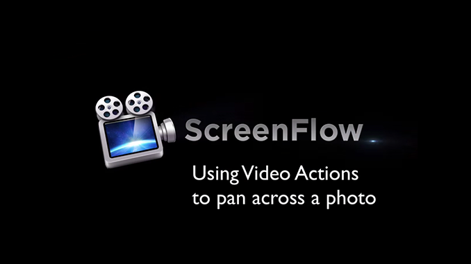 Using Video Actions to Pan Across a Photo