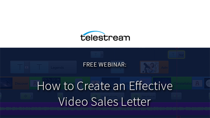 Webinar – How to Create an Effective Video Sales Letter
