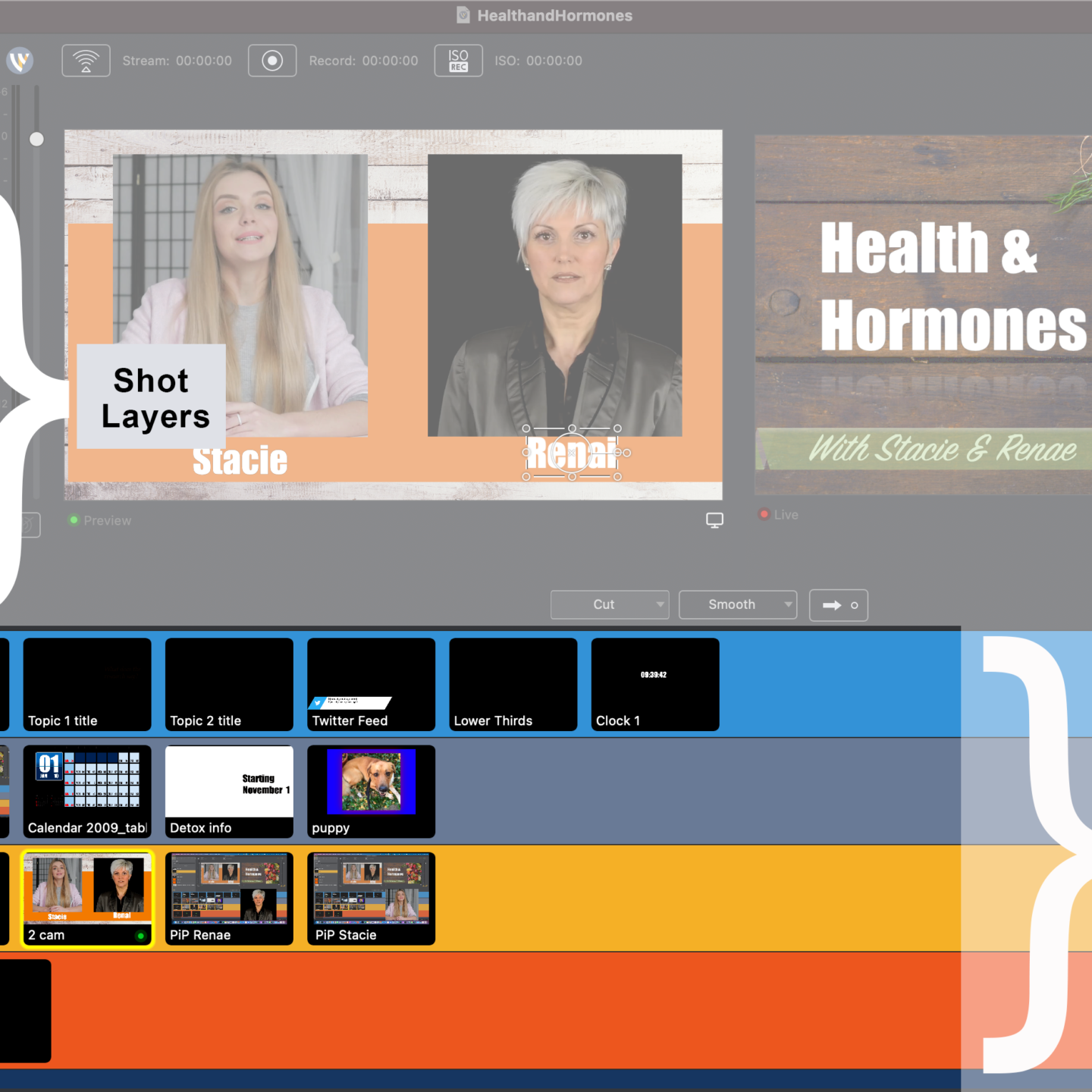 Best Practices for Setting up Shot Layers in Wirecast